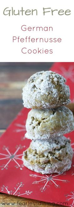 These gluten free pfeffernusse cookies are a delicious German cookie that is so hard to resist! This gluten free pfeffernusse cookie recipe is easy and delicious. Recipe at www.fearlessdining.com #pfeffernusse #glutenfreecookies #glutenfreeChristmascookies  via @fearlessdining