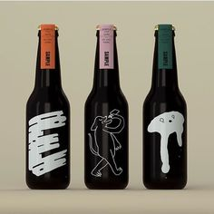 Packaging and illustration design. A collaboration between + via — these designs are so where we are at right now Cool Packaging, Food Packaging Design, Beverage Packaging, Bottle Packaging, Packaging Design Inspiration, Brand Packaging, Coffee Packaging, Wine Bottle Design, Beer Label Design