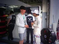 Felipe Massa talking to Benedict Cumberbatch - 2014 Malaysian GP qualifying