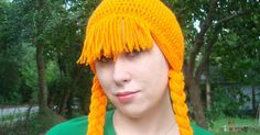 This hat was featured on the Moogly Blog Crochet Wig post I finally have red hair! It should have been mine at birth (it always ski...