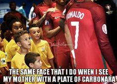 https://es.johnnybet.com/supercopa-de-europa-2016-real-madrid-sevilla-pronostico#picture?id=6870 #ronaldo #kids #football #carbonara #funnypics