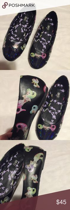 Iron First Limited Mermaid Flats Size 6, runs true to size. Never worn. So cute and soft! No trades or Paypal. Usually ships next business day. Offers will be considered through offer button. Iron Fist Shoes Flats & Loafers