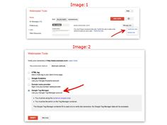 Now You can verify ownership of your site in Webmaster Tools using the Google Tag Manager container snippet code    To verify your site follow below steps:    1) Go to Webmaster Tools home page click on Manage site for the site you'd like to verify  2) Click Verify this site from drop down (Image:1)  3) On the Verification page, select Google Tag Manager as the verification method and follow the steps on your screen (Image:2)  4) Finally click on Verify.    Image source: Google webmaster… Webmaster Tools, Google Analytics, Verify, You Must, Tech News, Container, Coding, Drop, Tags