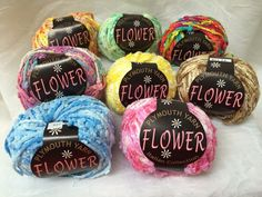 Destash Multi-Color Plymouth Yarn Flower Italian Collection 8 Skeins #PlymouthYarnFlower