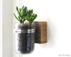 the3Rsblog Hanging Mason Jar Planter