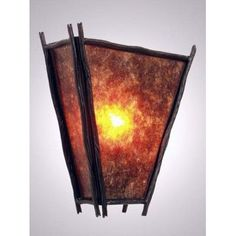 Steel Partners Sticks Vegas 1 Light Wall Sconce Shade Color: Amber Mica, Finish: Architectural Bronze