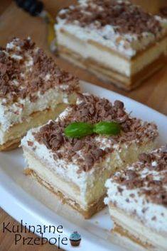 Sweet Desserts, No Bake Desserts, Sweet Recipes, Sweet Bar, Polish Recipes, Sweet Treats, Bakery, Deserts, Food Porn