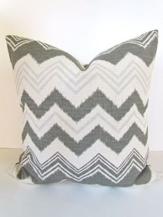 Decorative Throw Pillows Accent Pillows Gray and White Twill Pillow Covers 20 x 20 Inches Embrace by Premier Prints.