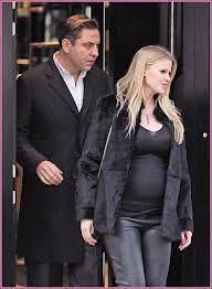 Lara Stone, due with husband David Walliams
