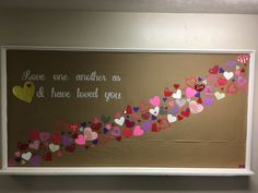 Valentines Day bulletin board for church