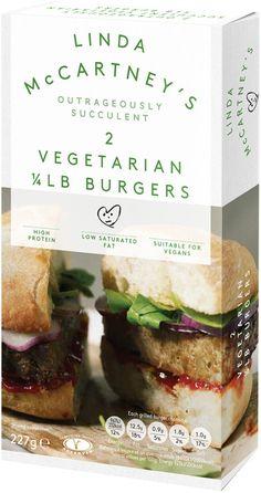 Linda McCartney Foods - Vegetarian 1/4lb Burgers