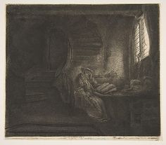 Rembrandt : St. Jerome in a Dark Chamber