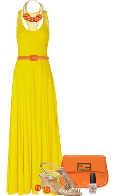 """""""Maxi Dress"""" by tajarl on Polyvore"""