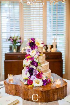 Rough buttercream and bright wildflowers - rustic perfection! #cedarwoodweddings Wood and Flowers :: Rachel+Chris | Cedarwood Weddings