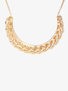 Rock some sexy chain link style with this gone tone bib necklace.