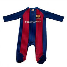 FC Barcelona Sleepsuit 3/6 Months VS  Official FC Barcelona product  Imported  3/6 month bodysuit  100% cotton  Perfect for the little Barca fan!