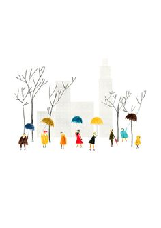 Central Park print by blancucha