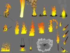 More fire FX. These are old ones used for animated TV series - Flash only - 2009