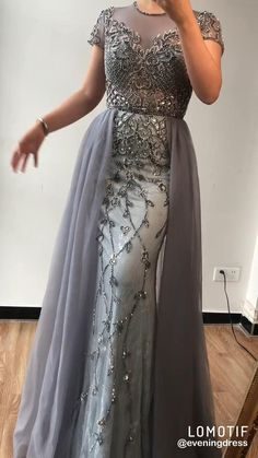 Evening Dresses With Sleeves, Evening Dresses For Weddings, Designer Evening Dresses, Gown Designer, New Designer Dresses, Formal Evening Dresses, Short Sleeve Dresses, Party Wear Dresses, Party Dress