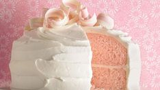 Party time! Make a pretty pink cake with a kiss of almond flavor.
