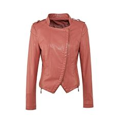 Fashion Solid Color Double Zippers Slim Coat For Women from Jolly Chic