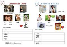 Décris la famille fiche d'exercices - Fiches pédagogiques gratuites FLE