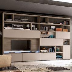 High quality, contemporary 'Zara' TV Unit. Wooden beautiful piece, great bookshelf, modern and elegant. My Italian Living.