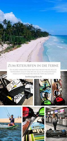 Kitebag packen, aber wie & was? Kitesurfing, Surf Girls, Koh Lanta Thailand, Sup Surf, Water Photography, Wakeboarding, Big Waves, Travel Agency, Beautiful Islands