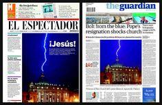 La historia de la foto del rayo que cayó en la cúpula del Vaticano tras las renuncia del papa