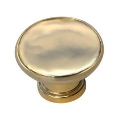 2 x Gold / polished brass effect 40mm mushroom shaped cupboard cabinet knobs by Swish.: Amazon.co.uk: DIY & Tools