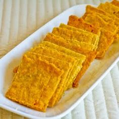 Recipe for Cheese Crackers with Almond Flour (Gluten Free)  [from KalynsKitchen.com]