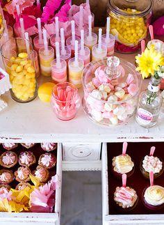 pink lemonade flavored & themed desserts   {briar rose designs via on to baby}