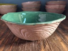Rustic White Wood And Green Textured Soup Bowl by SublimeSignsStudio on Etsy / click the image or link for more info. Rustic White, White Wood, Ceramic Plates, Ceramic Pottery, Expensive Art, Plate Hangers, Green Texture, Second Hand Stores, Soup Mugs