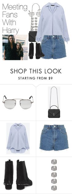 """""""Meeting Fans with Harry- Harry Styles"""" by onedirectionimagineoutfits99 ❤ liked on Polyvore featuring Prada, Yves Saint Laurent, Topshop, Ash and Reeds Jewelers"""
