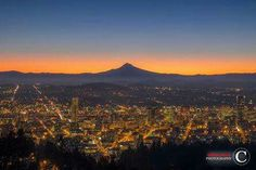 Portland OR sunrise  Clifford Paguio Photography