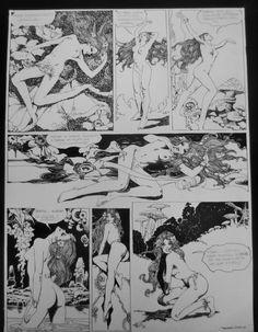Wonderland page 1 by Esteban Maroto Comic Art
