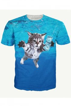Cat Cobain T-Shirt - #REPIN for a chance to win!   Contest Rules: 1 winner picked DAILY Must share 2 product posts to qualify Winner will be added to a VIP Facebook Group Winner will is announced 4-6 days after the contest and will receive 1 product!
