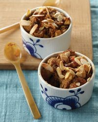Raisin-Studded Apple Bread Pudding Recipe on Food & Wine  -  For the full recipe, simply click on the photo.  ENJOY!