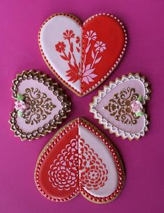 All we can say is wow!    Julia Usher | Recipes for a Sweet Life | Pretty Heart Cookies...