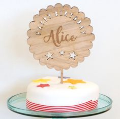 Wooden Cake Toppers, Personalized Cake Toppers, Rustic Cake, Birthday Cake Toppers, Buffet, Cake Decorating, My Etsy Shop, Candles, This Or That Questions