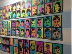 Andy Warhol project done at Creative Tots Preschool Mason Art Show- These turned out amazing!!