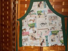 Retro Rabbit Apron made by Fried Green Aprons