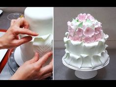 Simple Fondant Cake Decorating. Tutorial by CakesStepbyStep. - YouTube