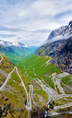 """The """"Troll's Ladder"""", Trollstigen Mountain Road. Click through to see 20 more photos that will inspire you to travel to Norway!"""