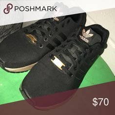 new style 0f10a ea474 Shop Womens adidas Black Gold size 9 Sneakers at a discounted price at  Poshmark.