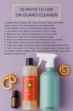 On Guard has so many uses and benefits. We've loved having it in our cleaner concentrate. It's a natural and safe way to clean your house. Now you can try all 10 of these ways to use the cleaner!
