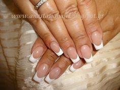 Beautiful French manicure - Nailpro Fun French Manicure, French Manicures, Dream Nails, Pink Nails, Shabby Chic, Nail Art, Beauty, Beautiful, Vintage