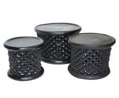 African Bamileke Stool from Cameroon Spider Pattern by Cowhidesusa Cowhide Furniture, Black Furniture, Living Room Furniture, African Furniture, Black Stool, Home Furnishing Accessories, Ivoire, African Art, Great Rooms