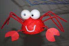 Kids Love Craft: Under the sea theme Crab Crafts, Vbs Crafts, Water Crafts, Camping Crafts, Crafts For Kids, Sea Animal Crafts, Underwater Theme, Under The Sea Theme, Under The Sea Crafts