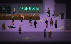 A lovely bar in the post-apocalyptic indie RPG, Death Trash.